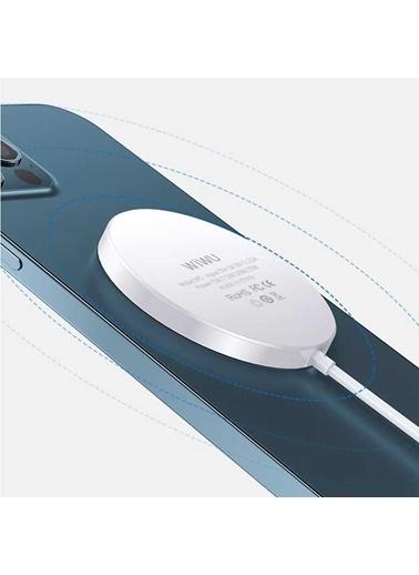 Wiwu Magsafe Wireless Charger Beyaz